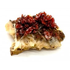 Vanadinite on Barite Specimen vb9609