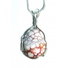 Dragon Vein Agate in Silver Necklace