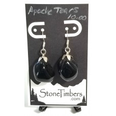 Apache Tear Earrings