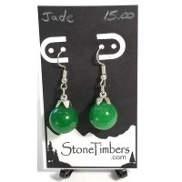 Jade Sphere Earrings
