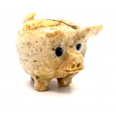 Soapstone Spirit Animal Happy Pig ss8437